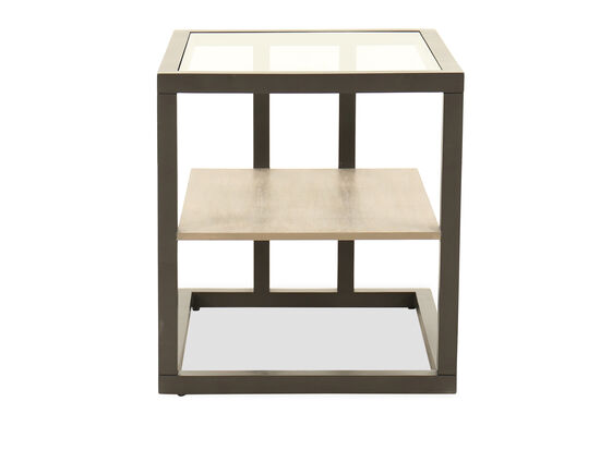 Two-Row Contemporary End Table in Brown
