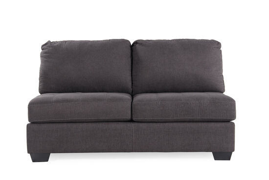 "Microfiber 64"" Armless Loveseat in Slate"