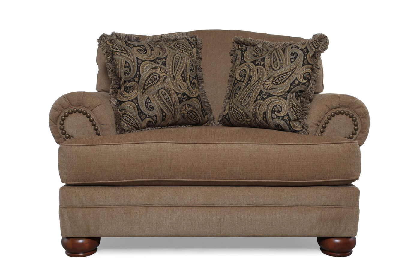 Traditional 57 Quot Chair And Half In Dark Sand Mathis