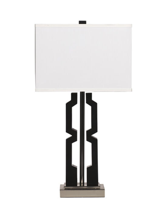 Contemporary Geometric Table Lamp in Black
