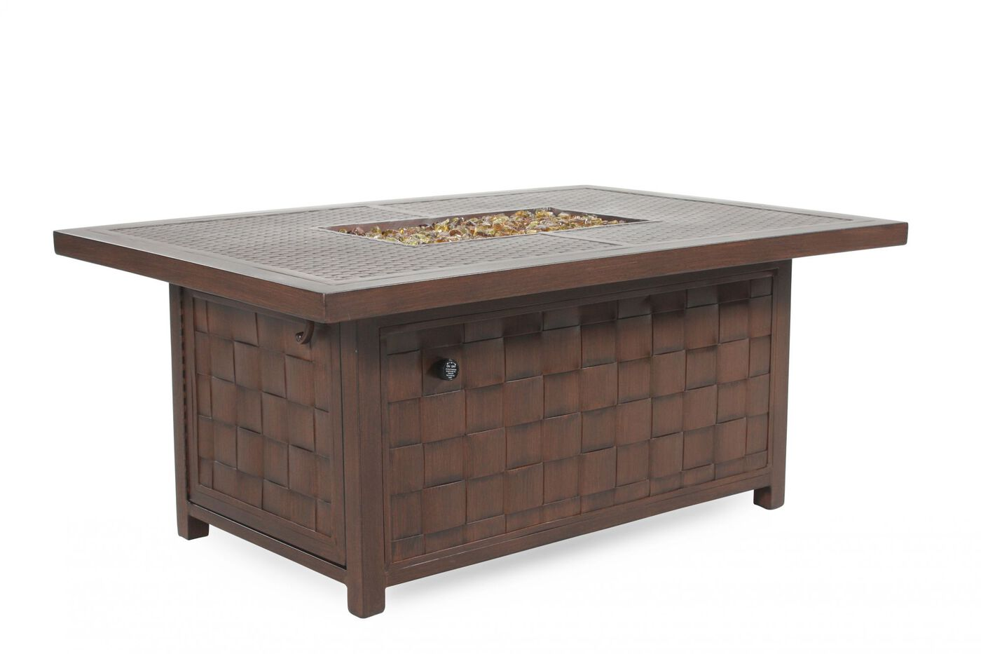 Mathis Brothers Patio Furniture castelle spanish bay patio fire pit coffee table | mathis brothers