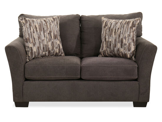 "64"" Transitional Loveseat in Gray"