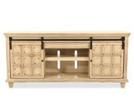 """Paneled Sliding-Door Traditional 72"""" Console in Light Brown"""