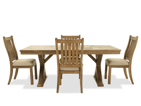 Five-Piece Casual Dining Set in Light Brown