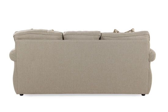"Contemporary 87"" Queen Sleeper Sofa in Latte"