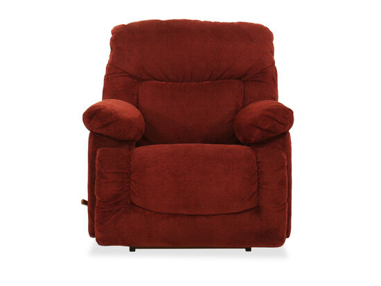 "Contemporary 41"" Rocker Recliner in Red Garnet"