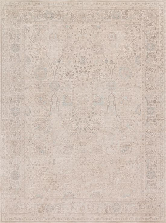 """Traditional 1'-6""""x1'-6"""" Square Rug in Natural/Natural"""