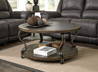 Ashley Volanta Caramel Round Cocktail Table