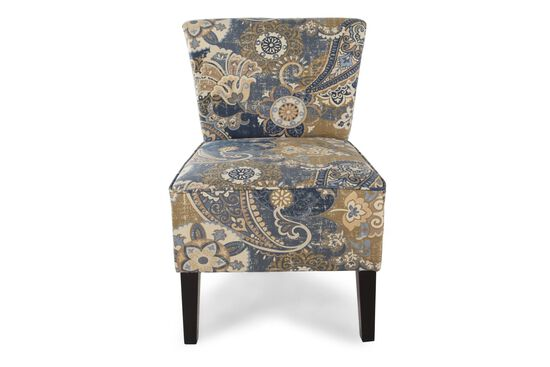 "Floral Printed Contemporary 22"" Accent Chair"