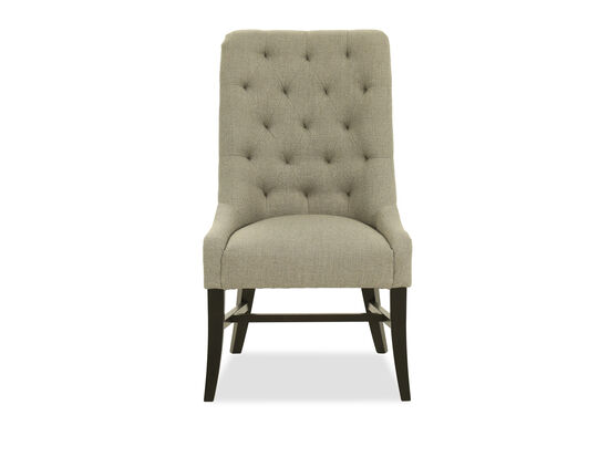 Diamond-Tufted Dining Chair in Gray