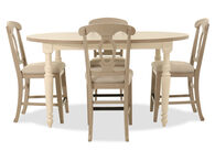Five-Piece Traditional Counter-Height Dining Set in Beige