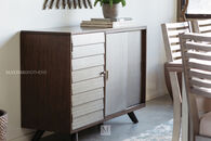 Contemporary Sliding-Door Server in Cream