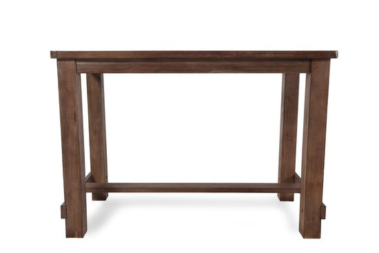 "Contemporary 60"" Pub Dining Table in Dark Oak"