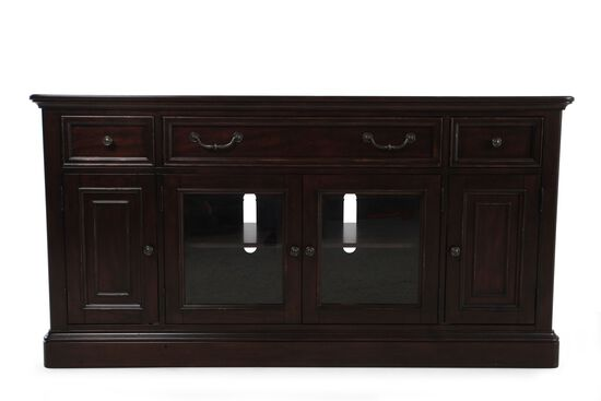 LED Lighting Traditional Console in Dark Cherry
