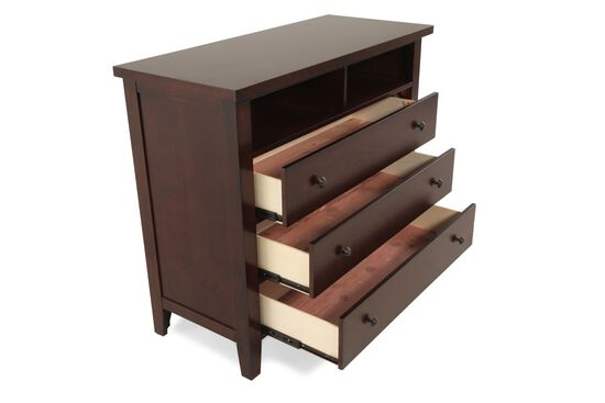 Cedar Lined Contemporary TV Stand in Dark Vintage Cherry