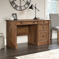 """53"""" Contemporary Four-Drawer Computer Desk in Oak"""