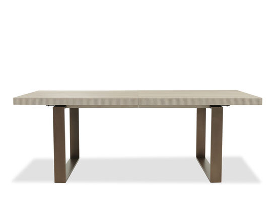 "Traditional 38"" to 104"" Rectangular Dining Table in Medium Bronze"