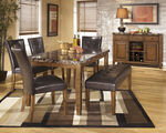 Ashley Lacey Medium Brown Large Upholstered Dining Room Bench