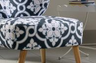 MB Home Orchard Maya Indigo Accent Chair