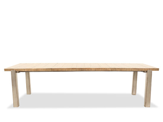 "Casual 40"" to 84"" Plank Top Dining Table in Light Maple"
