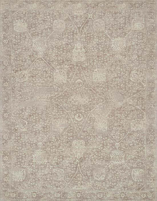"""Transitional 1'-6""""x1'-6"""" Square Rug in Taupe/Taupe"""