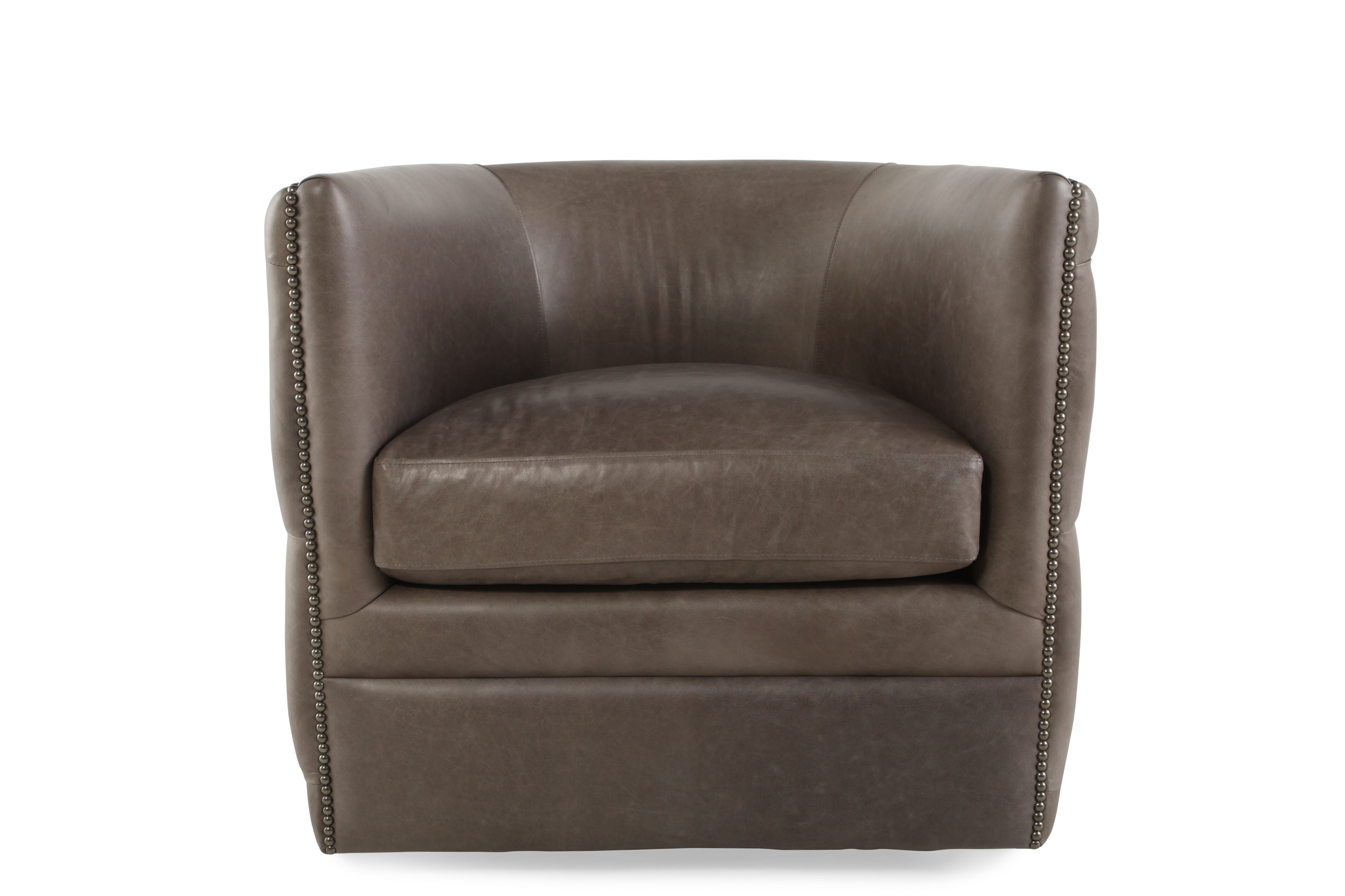 Images Nailhead Trimmed Industrial 31.5u0026quot; Swivel Chair In Dark Latte  Nailhead Trimmed Industrial 31.5u0026quot; Swivel Chair In Dark Latte