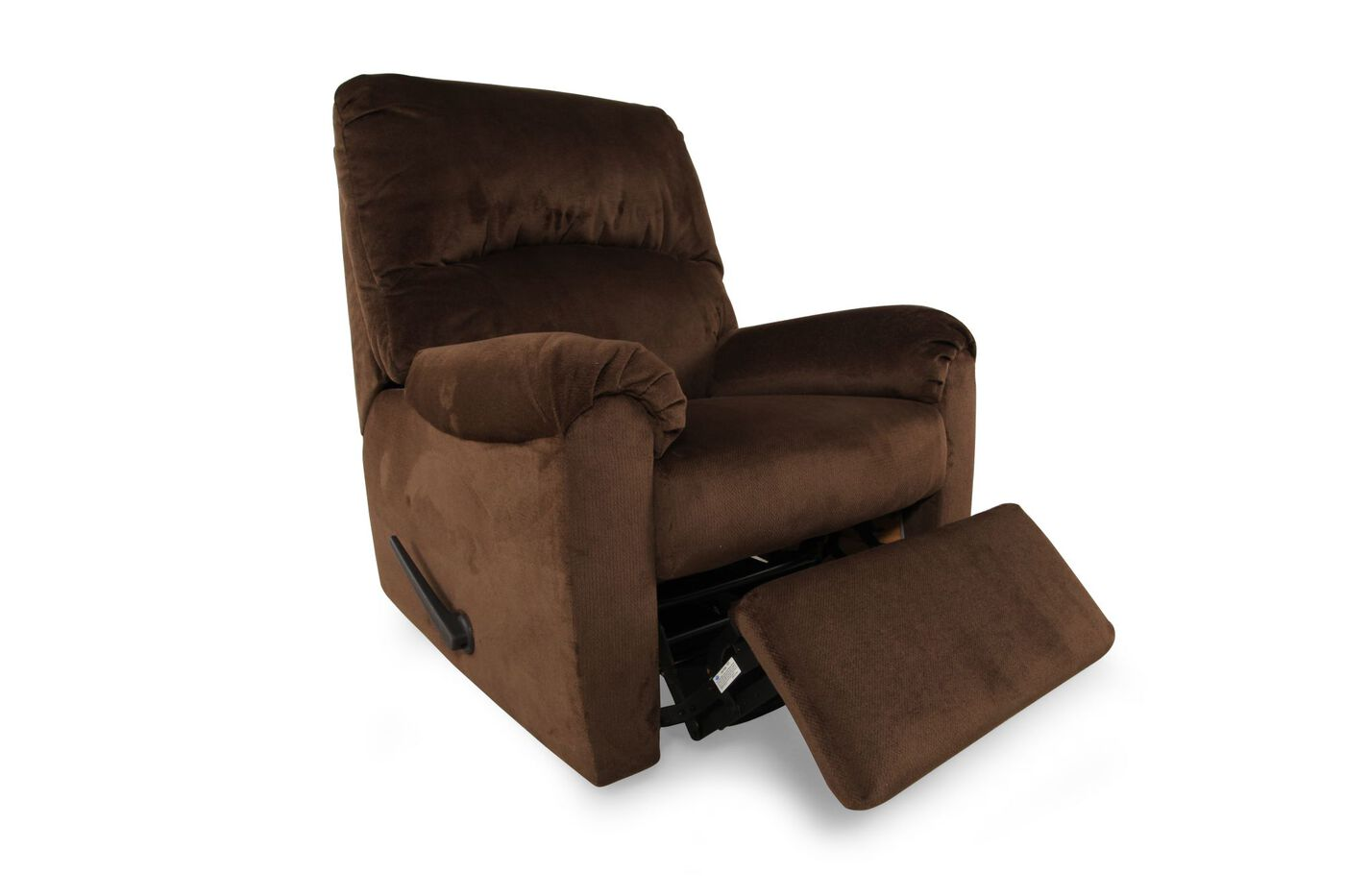 Contemporary 34 Swivel Recliner In Umber Mathis