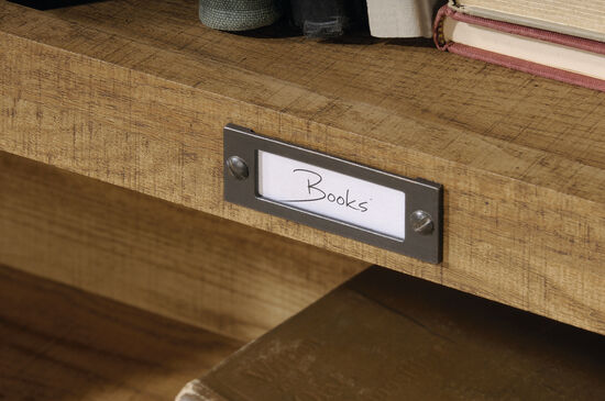 Transitional Bookcase in Scribed Oak