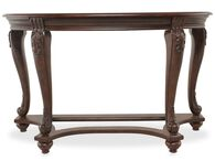 Traditional Chippendale Leg Sofa Table in Brown