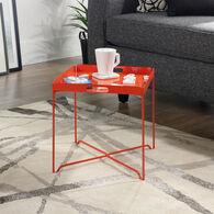 MB Home Fusionville Orange Blush Tray Table