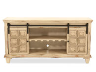 """Sliding-Door Traditional 60"""" Console in Light Brown"""