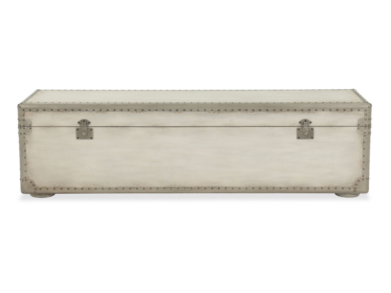 Nailhead Accented European Classic 60 Storage Bench In