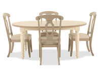 Five-Piece Traditional Dining Set in Beige