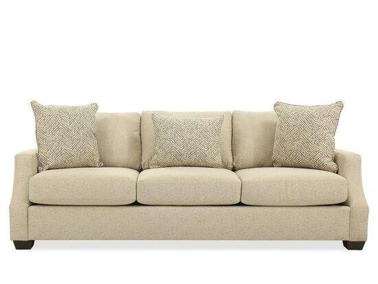 """Casual 94"""" Sofa in Beige"""