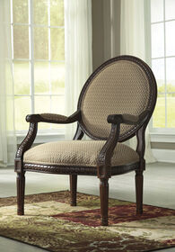 """Carved Traditional 27"""" Accent Chair in Topaz"""
