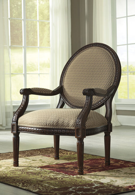 "Carved Traditional 27"" Accent Chair in Topaz"