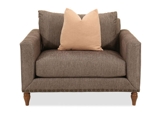 Nailhead-Accented Casual Chair in Brown