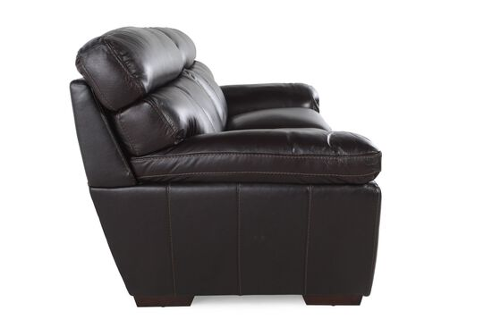 "Casual Leather 68"" Loveseat in Blackberry"