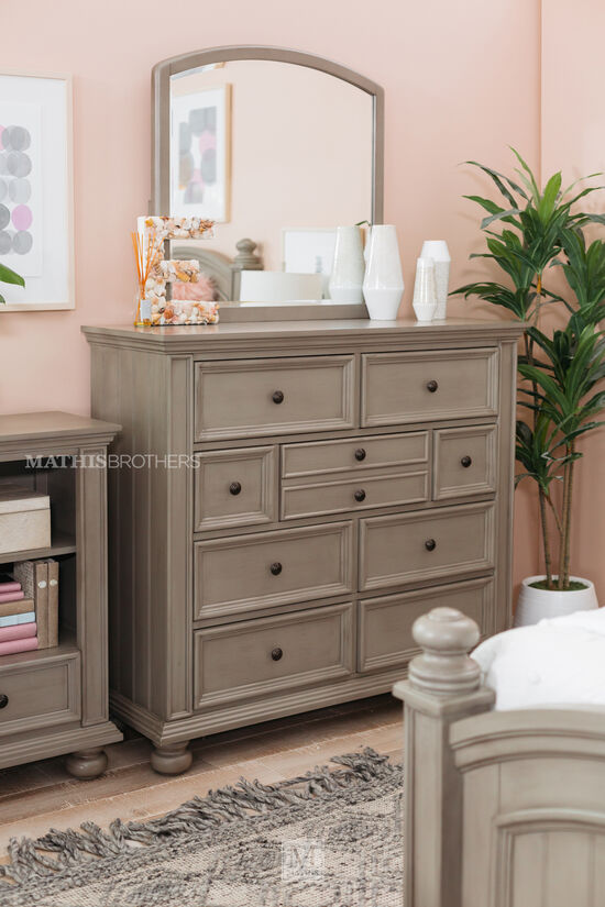 Casual Youth Nine-Drawer Dresser in Khaki Gray