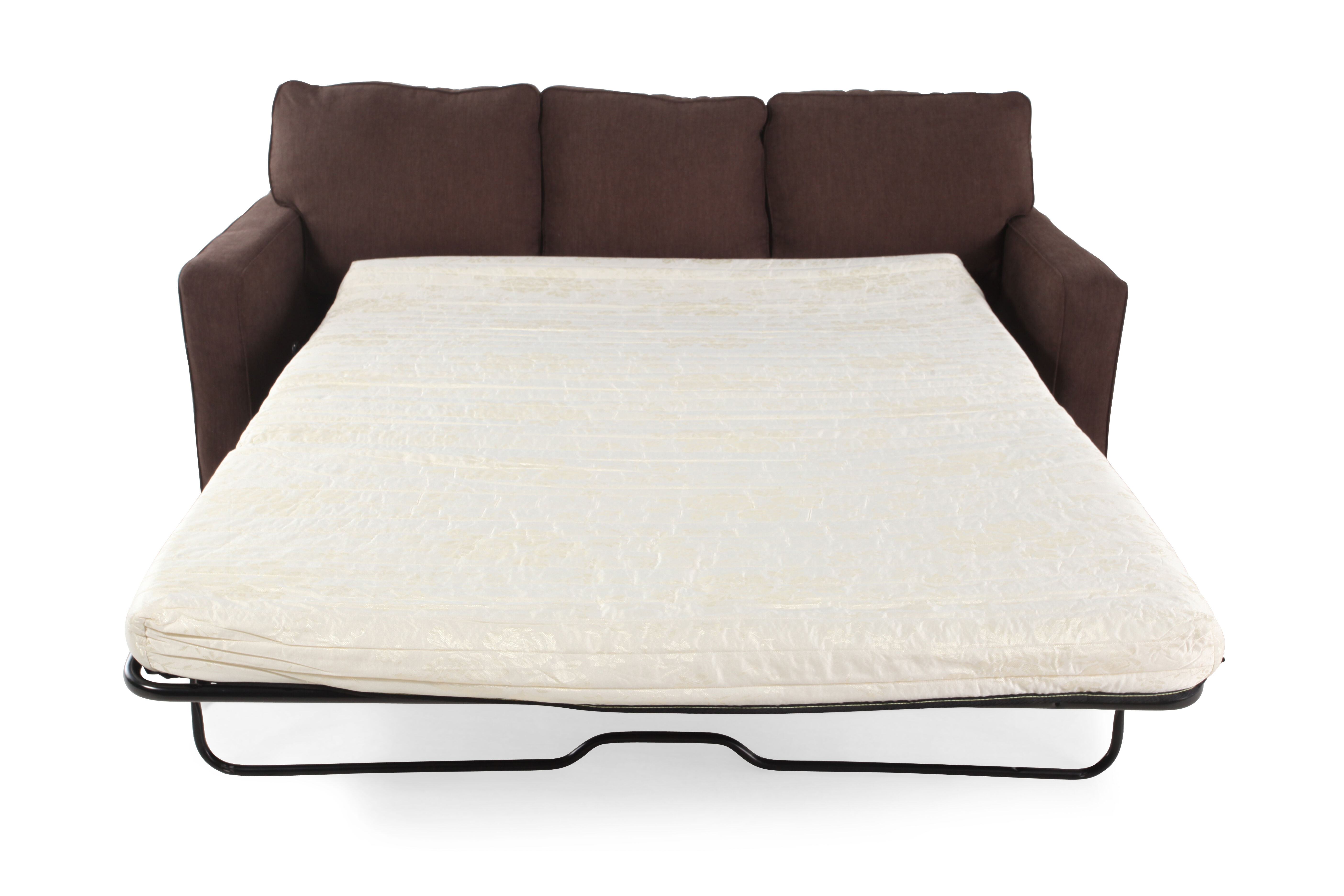 Contemporary 82u0026quot; Queen Sleeper Sofa In Espresso