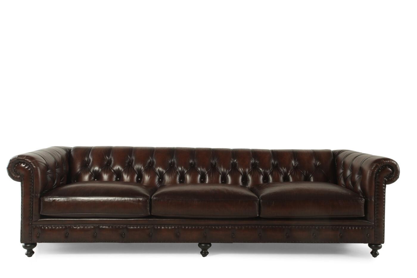 Bernhardt London Club Leather Sofa