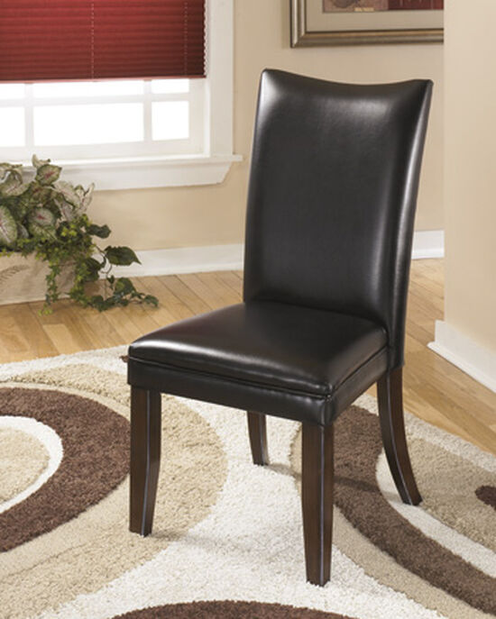 """Contemporary 20"""" Upholstered Side Chair in Black"""