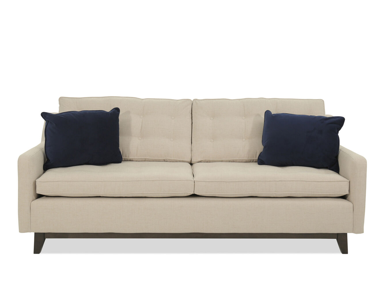 Contemporary button tufted 84 sofa in beige mathis - Beiges sofa welche wandfarbe ...