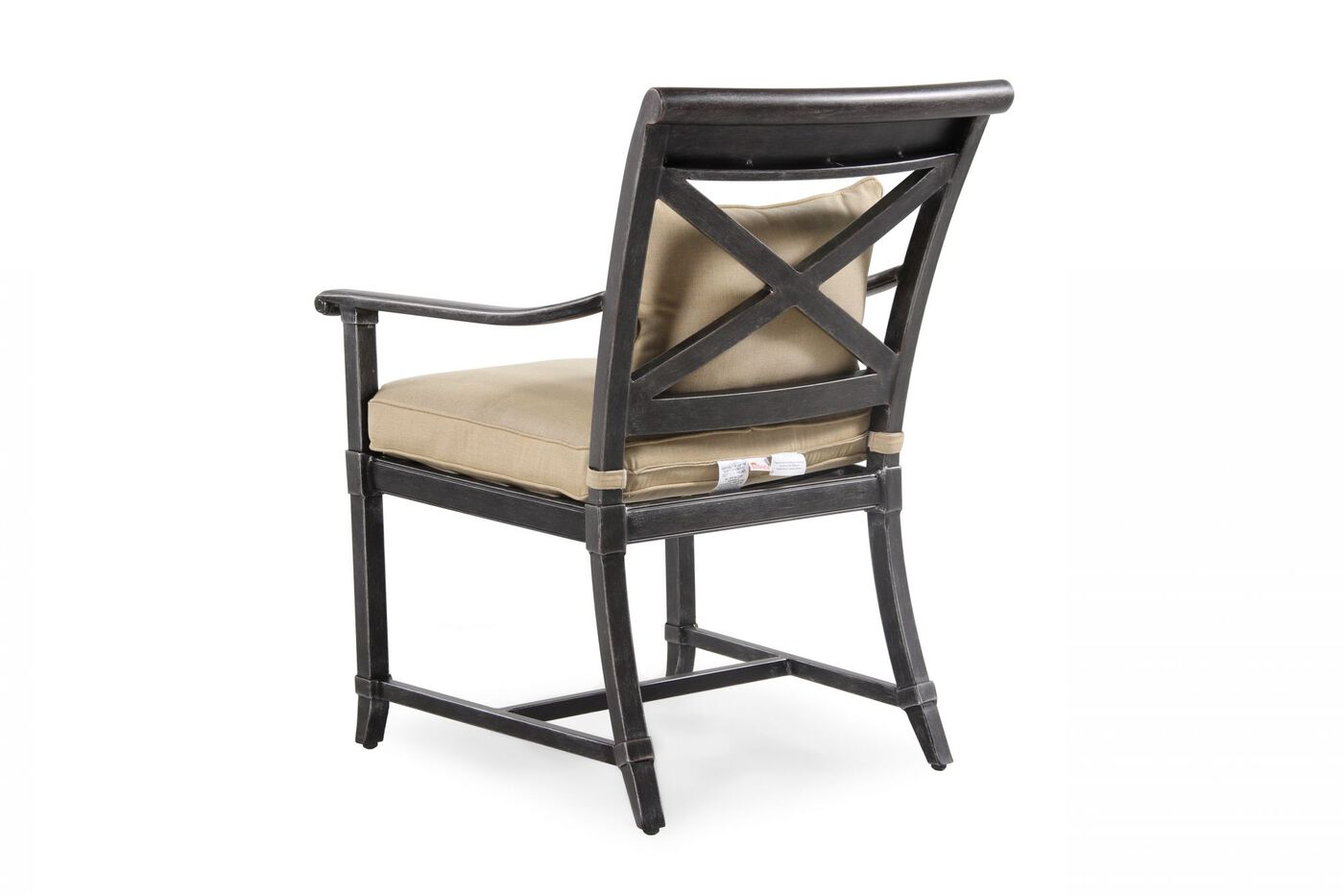 X Back Aluminum Dining Chair In Black Mathis Brothers