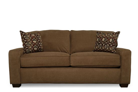 "Casual 82"" Full I-Rest Sleeper Sofa in Brown Truffle"