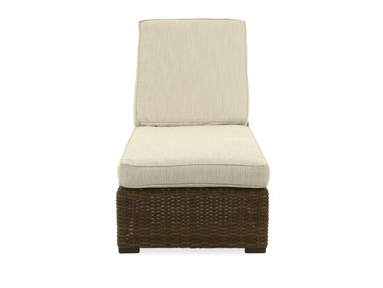 Contemporary All-Weather Chaise Lounge in Beige