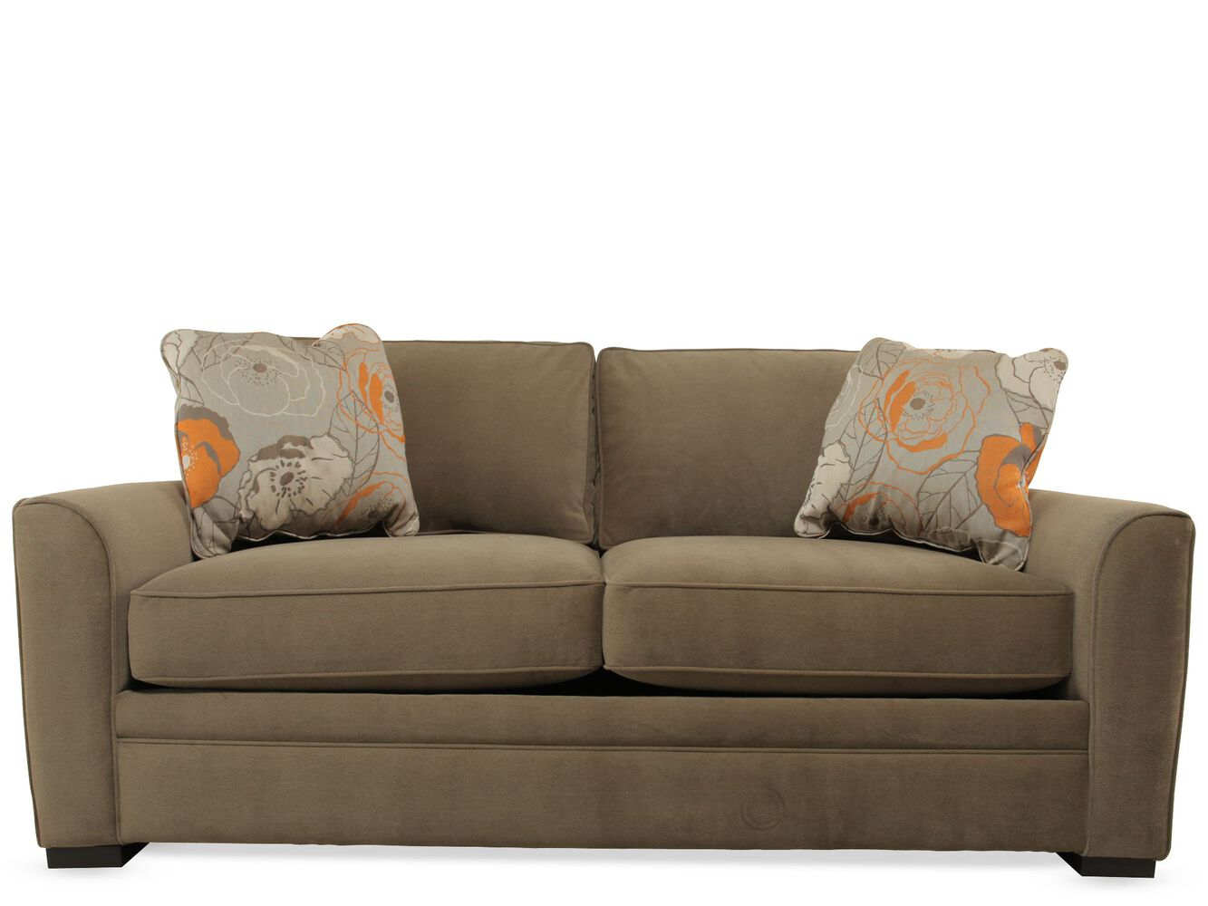 Casual 81 Quot Full Sleeper Sofa In Brown Mathis Brothers