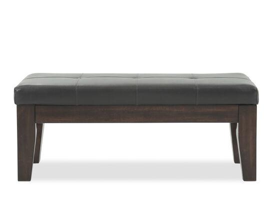 Button-Tufted 47'' Dining Bench in Dark Brown