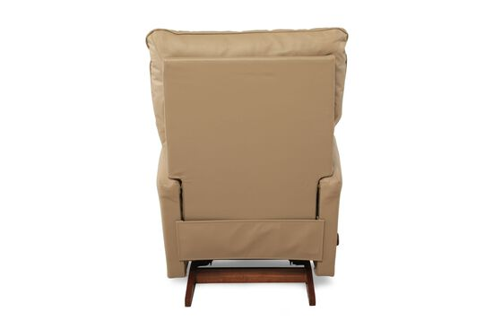 """Contemporary Leather 34"""" Rocker Recliner in Almond"""