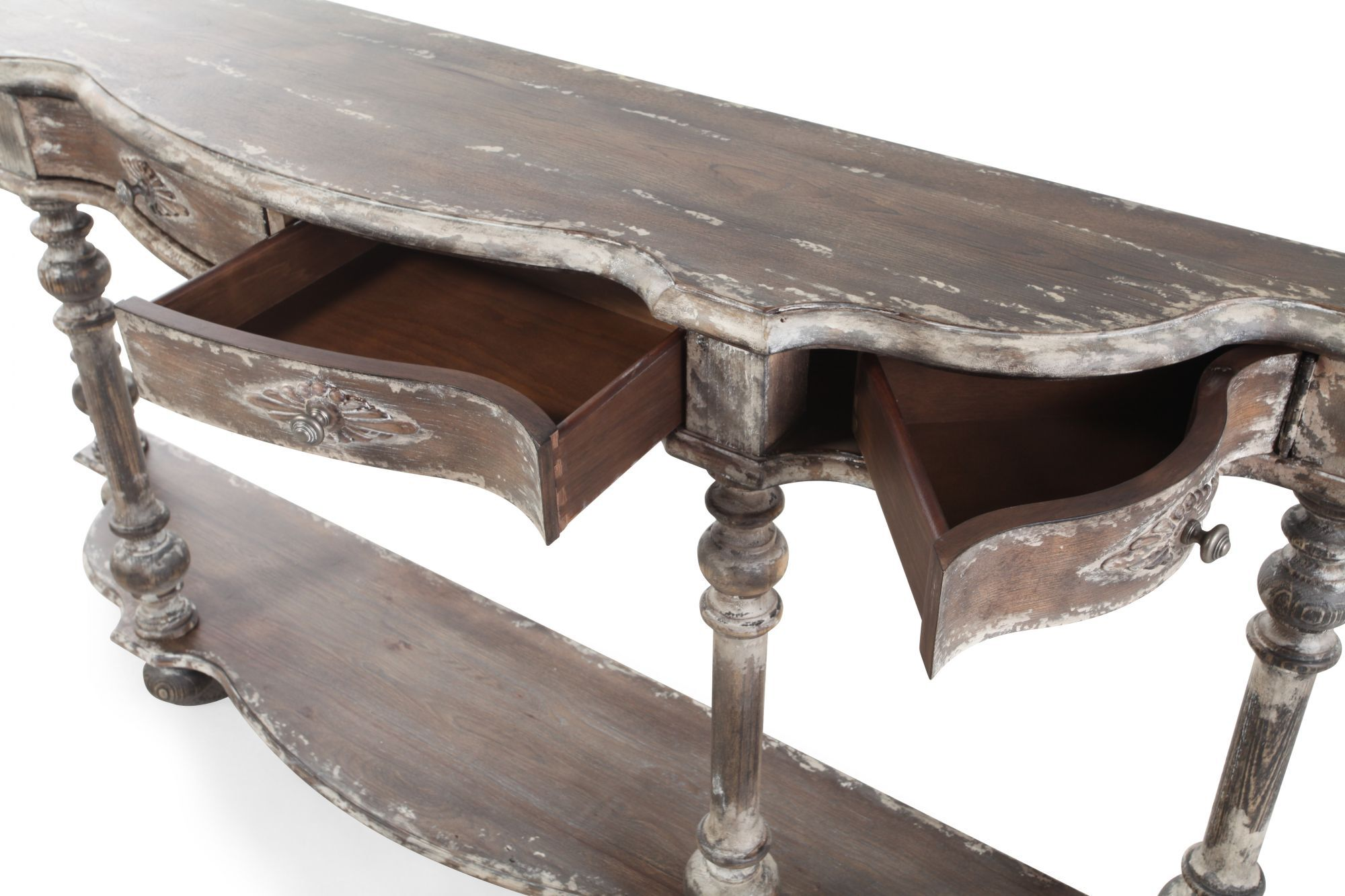 Demilune Shaped Casual Hall Console Table ...
